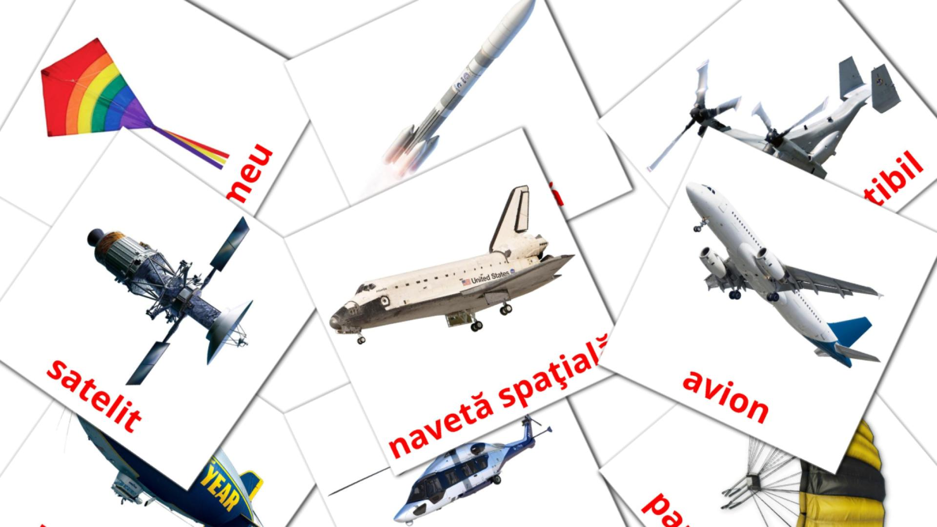 Aircraft flashcards
