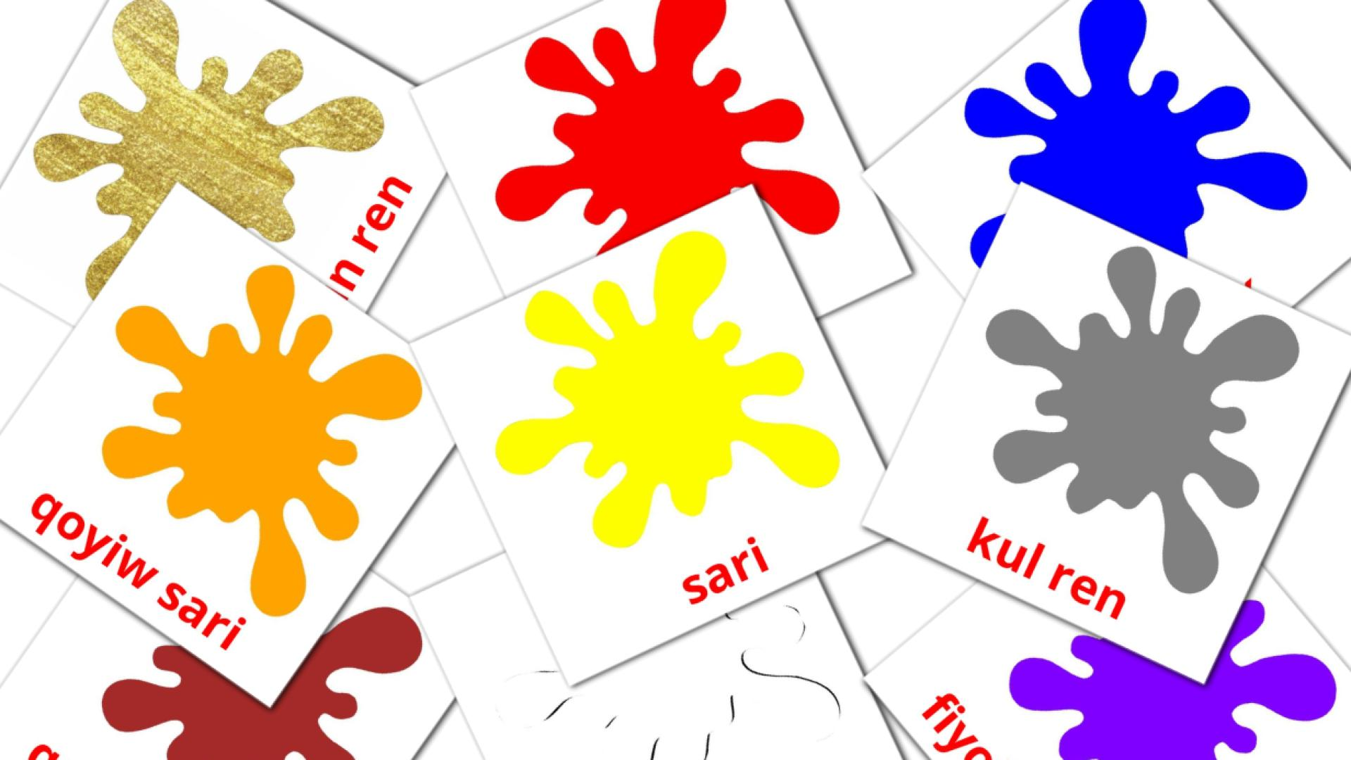 Base colors flashcards