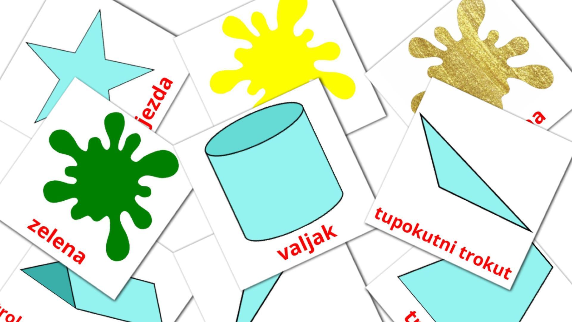 Карточи Домана Цвета и формы