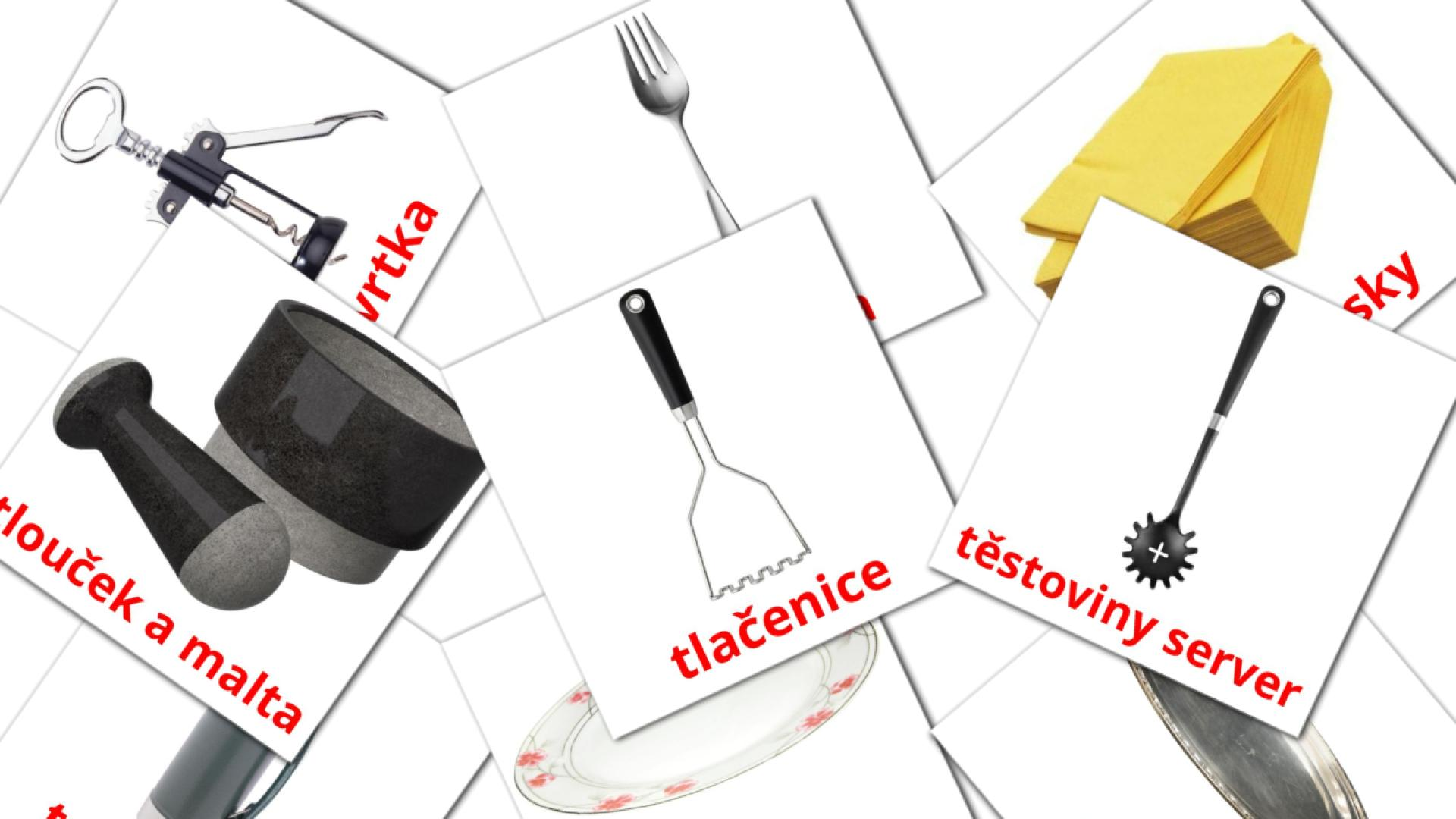 Kitchen flashcards