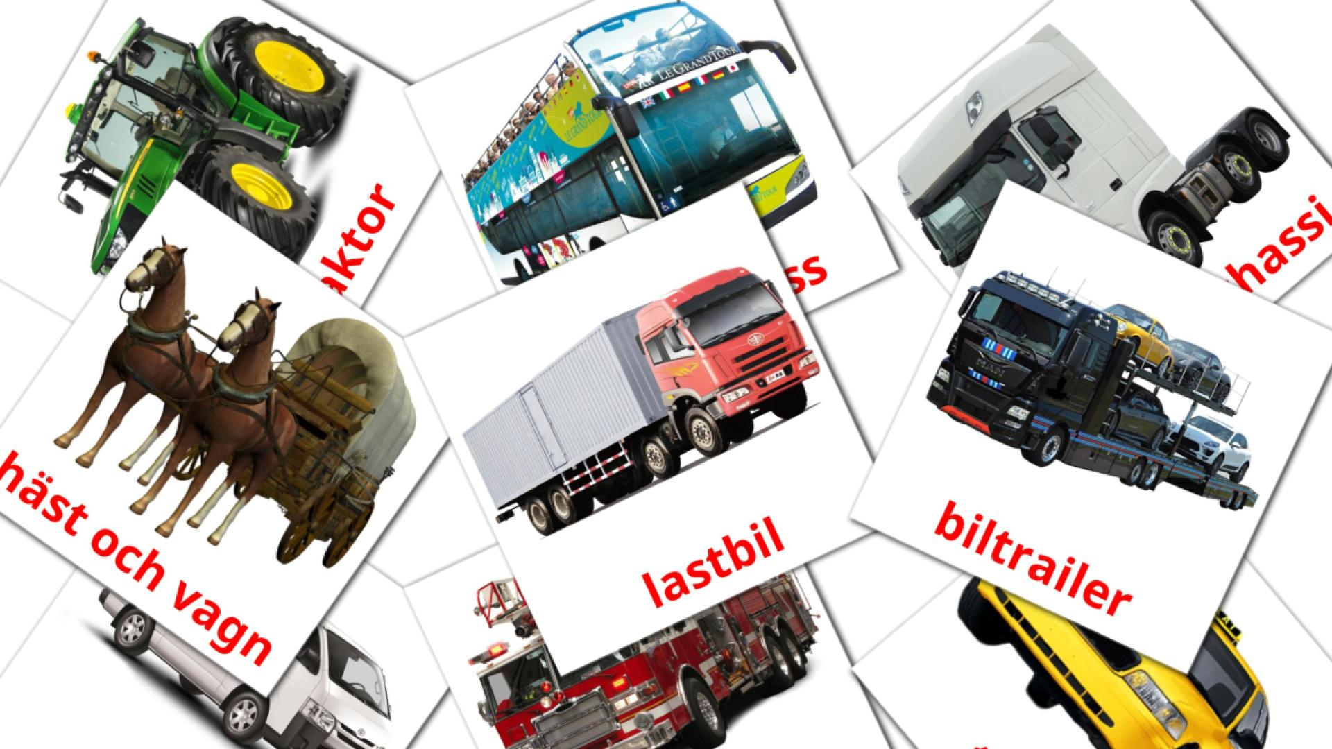 Land transport flashcards