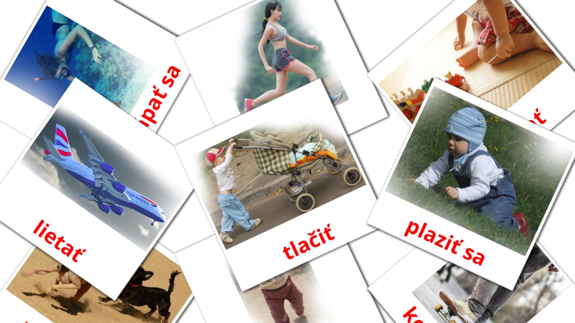 Movement verbs flashcards
