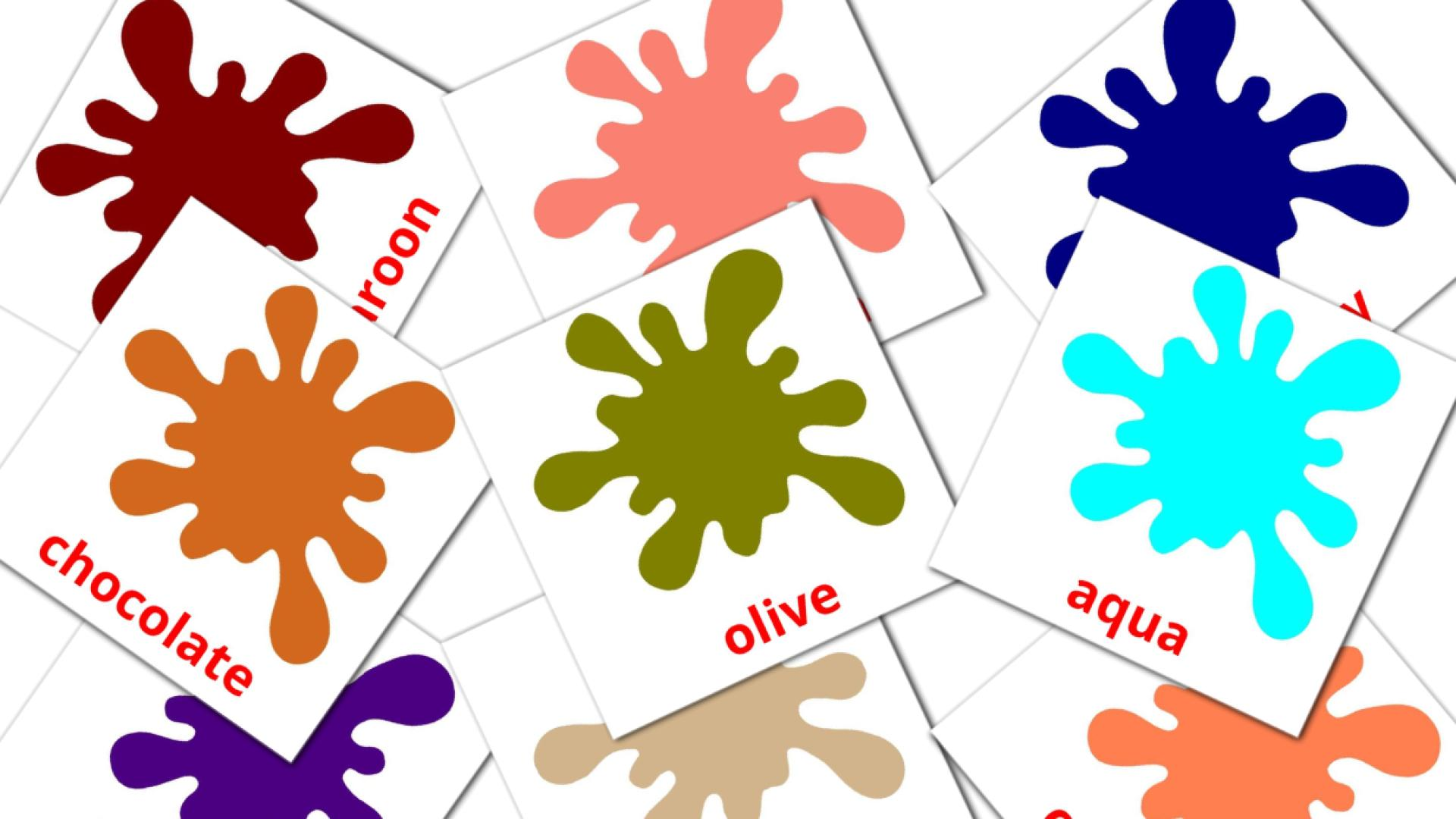 Secondary colors flashcards