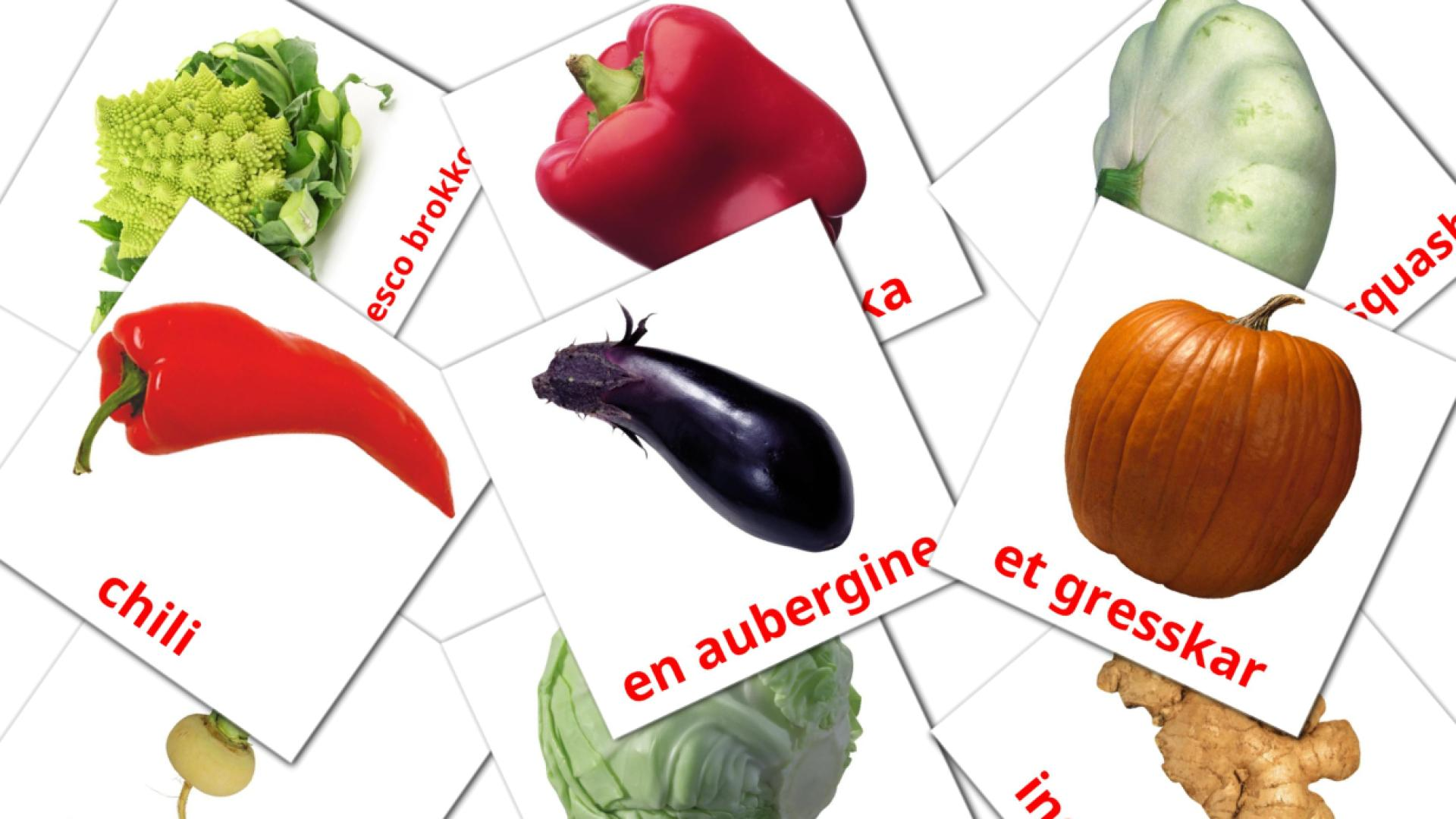 Vegetables flashcards