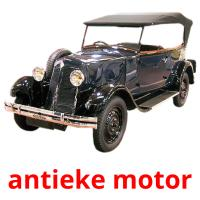 antieke motor picture flashcards