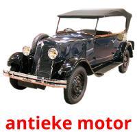 antieke motor picture flashcards