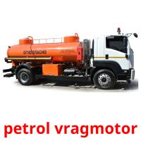 petrol vragmotor picture flashcards