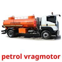 petrol vragmotor picture flashcards