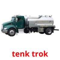 tenk trok picture flashcards