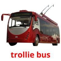 trollie bus picture flashcards