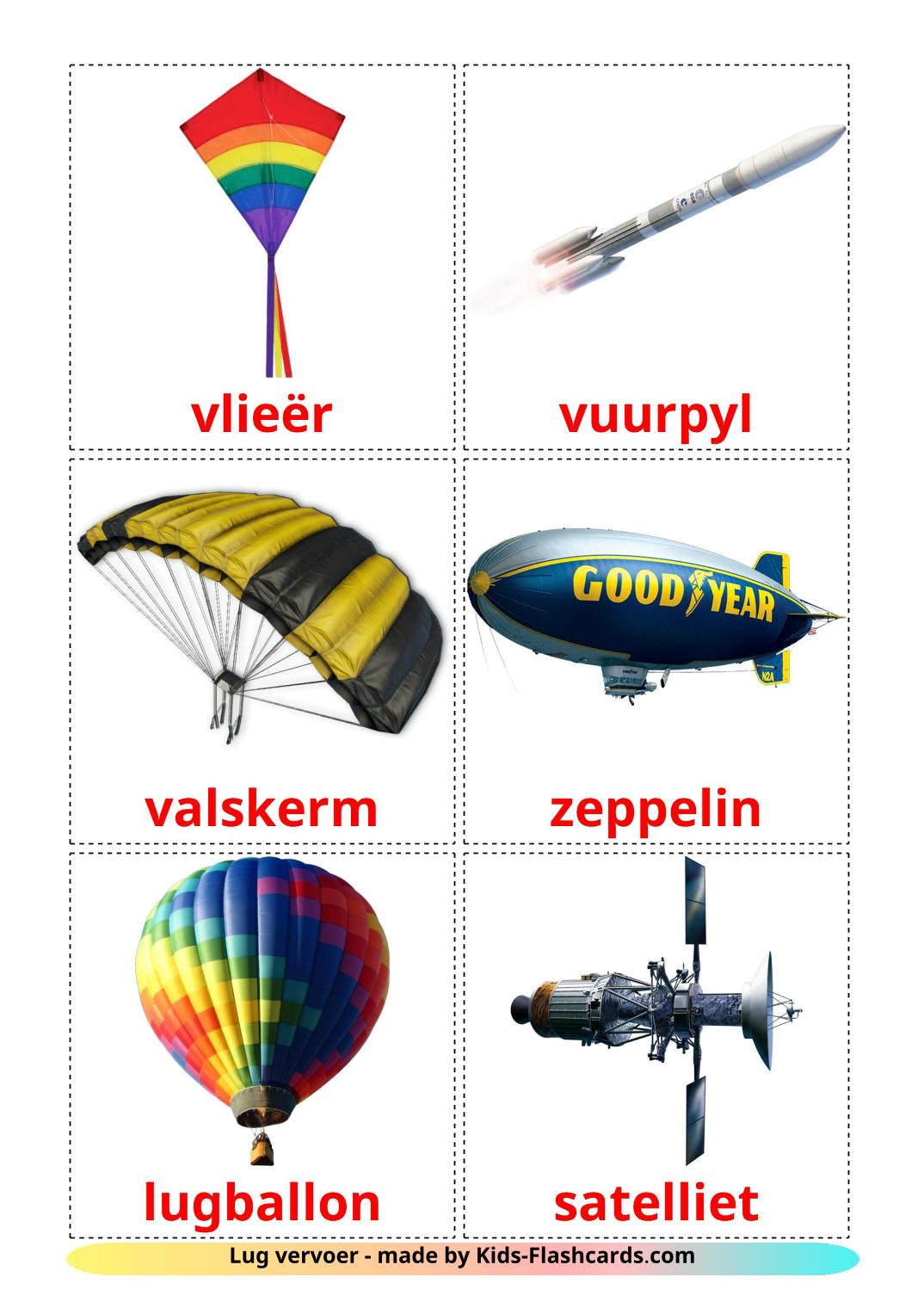 Aircraft - 14 Free Printable afrikaans Flashcards