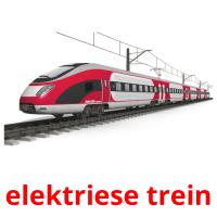 elektriese trein picture flashcards