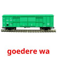 goedere wa picture flashcards