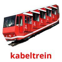 kabeltrein picture flashcards