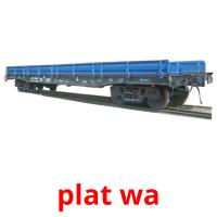 plat wa picture flashcards