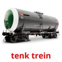 tenk trein picture flashcards