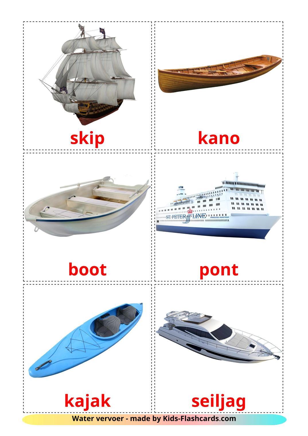 Water transport - 18 Free Printable afrikaans Flashcards