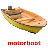 motorboot picture flashcards