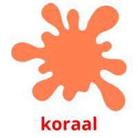 koraal picture flashcards