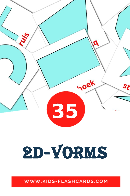 35 2D-vorms Picture Cards for Kindergarden in afrikaans