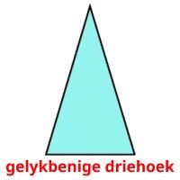 gelykbenige driehoek picture flashcards