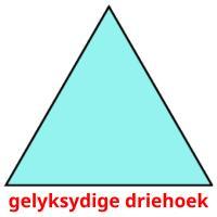 gelyksydige driehoek picture flashcards