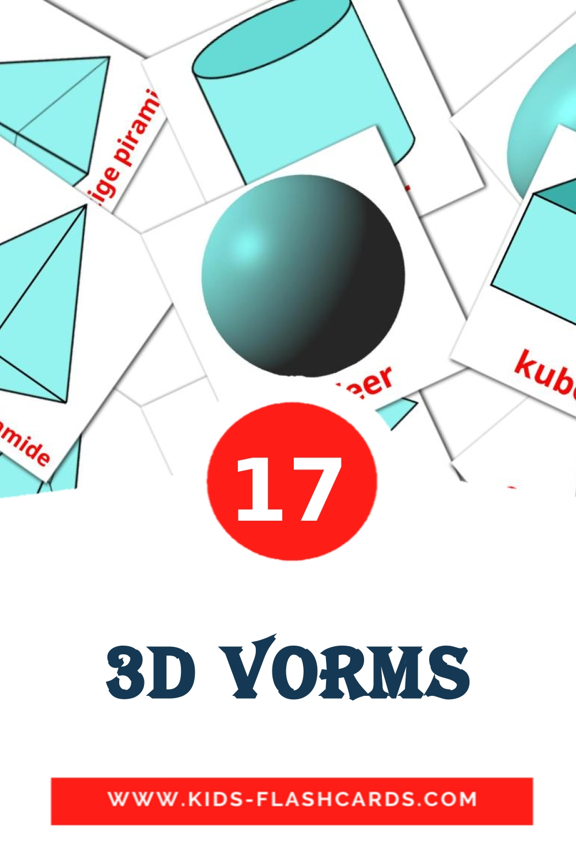 17 3d vorms Picture Cards for Kindergarden in afrikaans