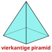 vierkantige piramid picture flashcards