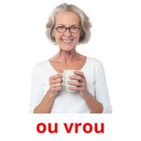 ou vrou picture flashcards