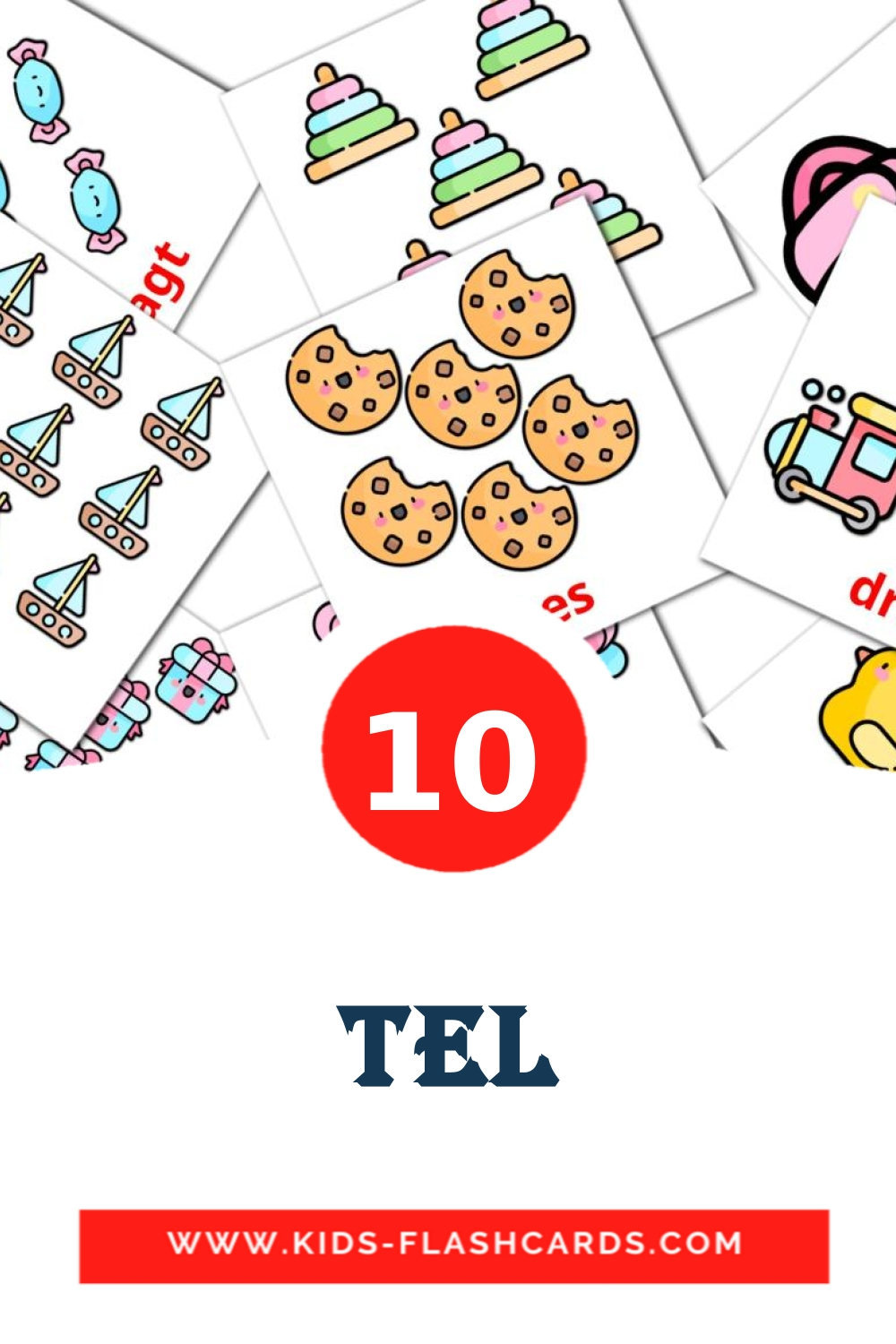 10 Tel Picture Cards for Kindergarden in afrikaans