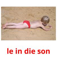 le in die son picture flashcards