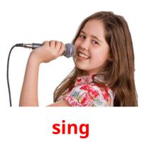 sing picture flashcards