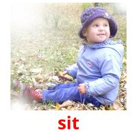 sit picture flashcards