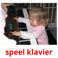 speel klavier picture flashcards