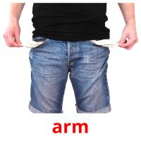 arm picture flashcards