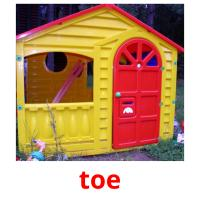 toe picture flashcards