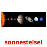 sonnestelsel picture flashcards