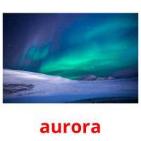 aurora picture flashcards