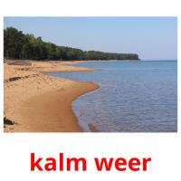 kalm weer picture flashcards