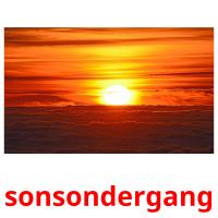 sonsondergang picture flashcards