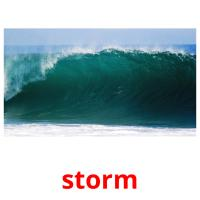 storm picture flashcards