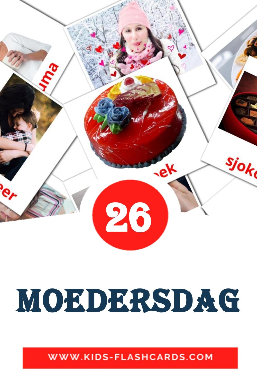 24 moedersdag Picture Cards for Kindergarden in afrikaans
