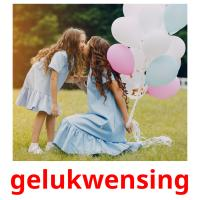 gelukwensing picture flashcards