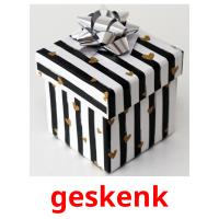 geskenk picture flashcards