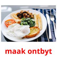 maak ontbyt card for translate