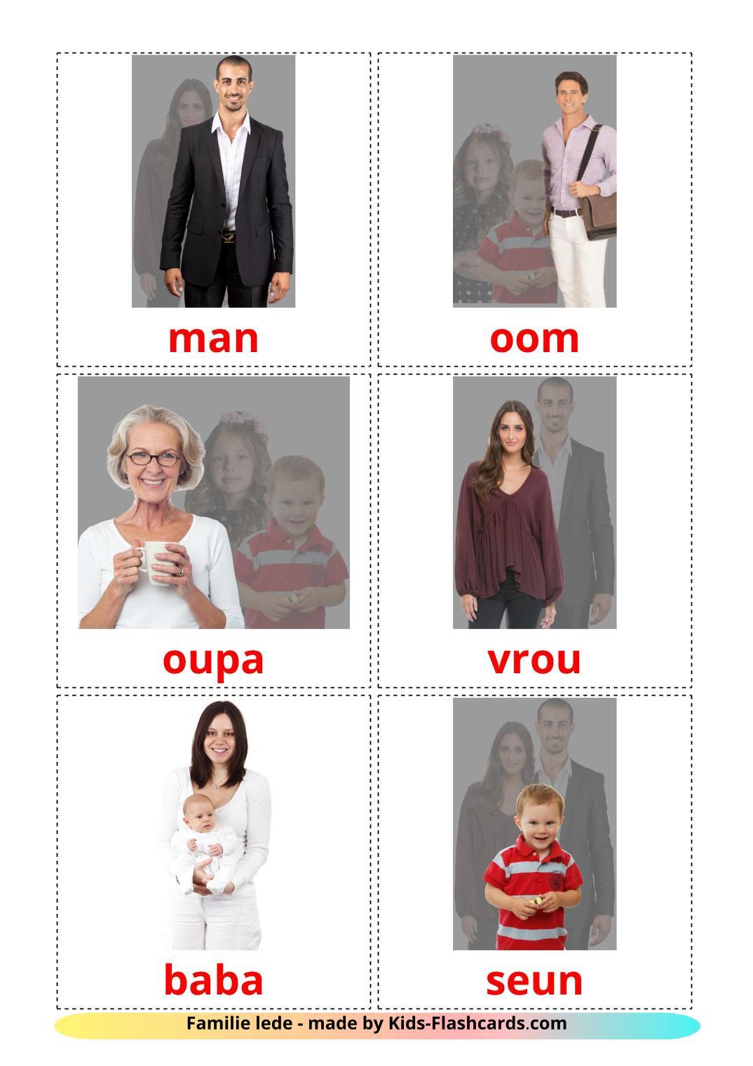 Family members - 32 Free Printable afrikaans Flashcards