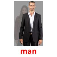 man picture flashcards