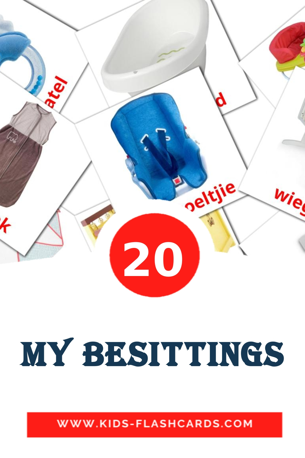 20 My Besittings Picture Cards for Kindergarden in afrikaans