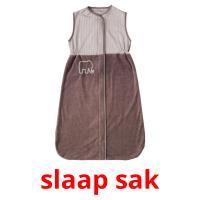 slaap sak picture flashcards
