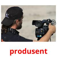 produsent picture flashcards